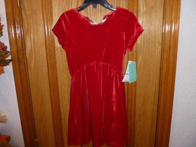 011184b067e3 Copper Key Red Velvet Holiday Dress Girls Size 5 Christmas Dress Lace-up  Back for sale online | eBay