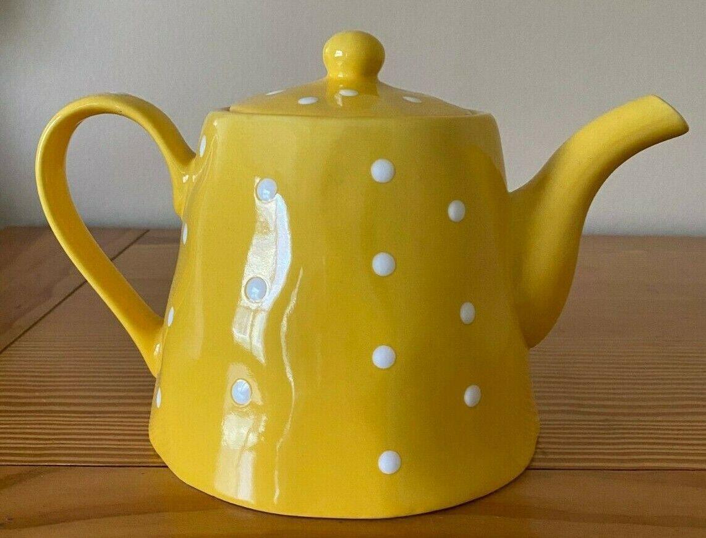 1 4 Qt Clay Ceramic Red White Polka Dot Brewing Teapot Stoneware