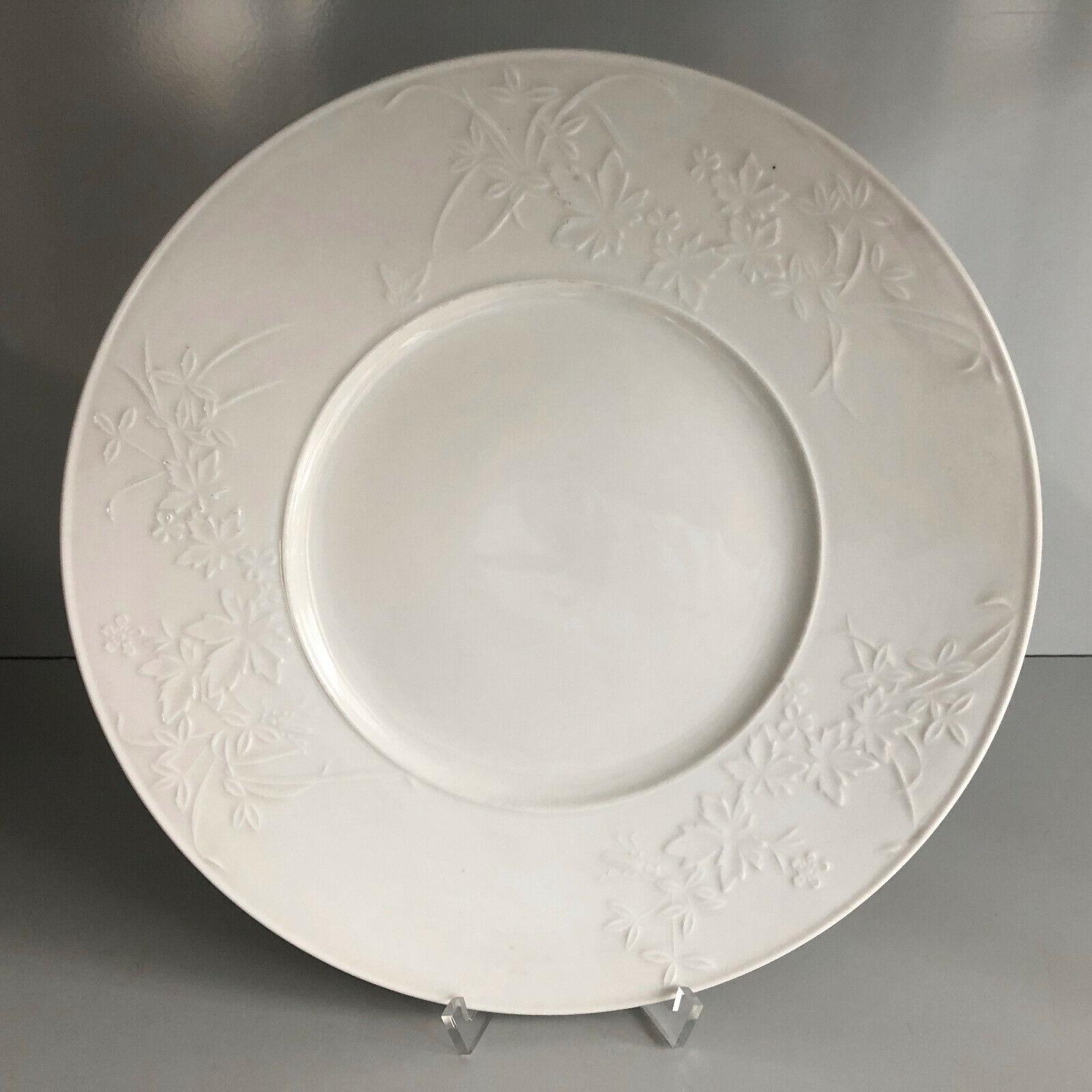 KPM Berlin feldbleume Relief Sur Bord Blanc Place Assiette 29,5 cm Inutilisé plate