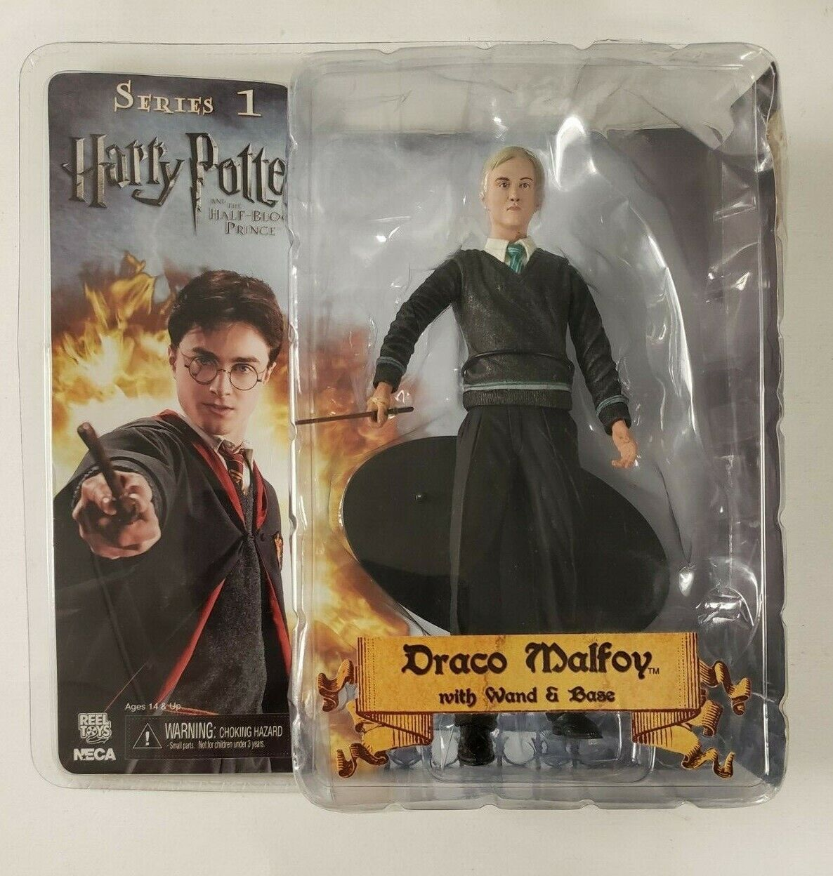 Harry Potter 7  Drago Malefoy avec sacuette & Base  série 1 Neca FACTORY SEALED  40% de réduction