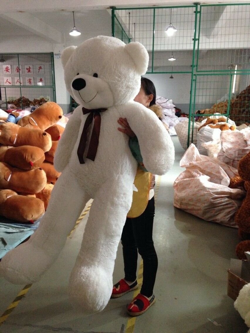 Big Stuffed Animal bianca Teddy Bear Plush Soft Toy 78'' Giant Animal Gifts 200cm