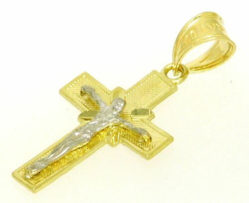 Ausgefallene Kreuz Anhänger Kettenanhänger 585 er Gold  Gelbgold 14 Kt Neu
