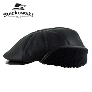 Sterkowski /'TONY/' Leather Men/'s 8 Quarters Gatsby Flat Cap; Newsboy Paperboy