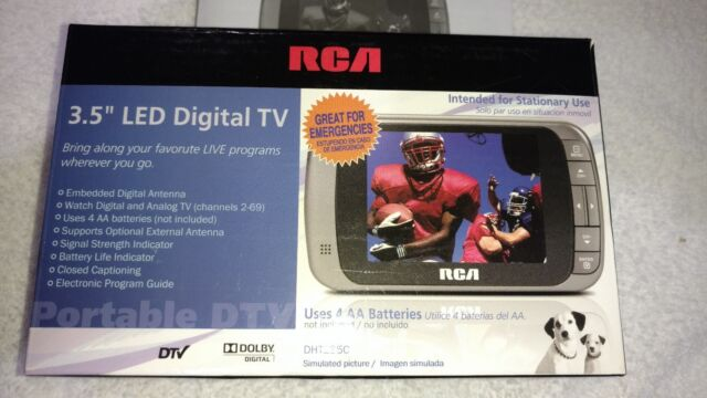 includes power cord RCA Portable LED HD Digital TV 3.5-Inch AA Battery Powered