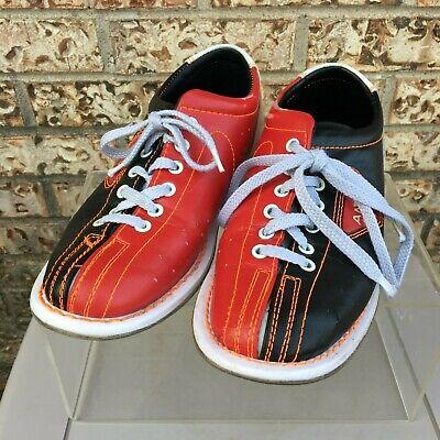 Vintage Qubica Amf Bowling Shoes Red Black Leather Women S Size 6 Men S Size 7 5 Ebay