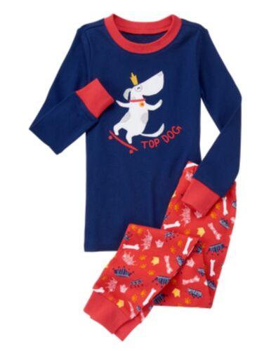 GYMBOREE Top Dog Garçons gymmies pyjama Sleepwear camarades Neuf avec étiquettes taille 5