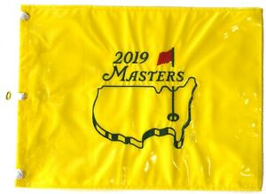 2019 MASTERS Official EMBROIDERED Golf Pin FLAG Sealed won by TIGER WOODS
