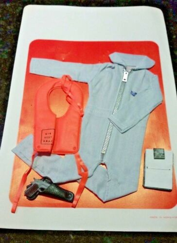 Hong Kong VINTAGE GI JOE 1960/'S Military USAF Pilot Ejection Uniform Water Set
