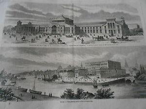 Gravure-1866-Suede-Vue-generale-de-Stockholm