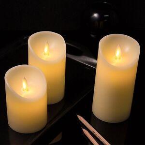 pack de 3 bougie led vacillante la flamme bouge vraiment neuf avec piles ebay. Black Bedroom Furniture Sets. Home Design Ideas