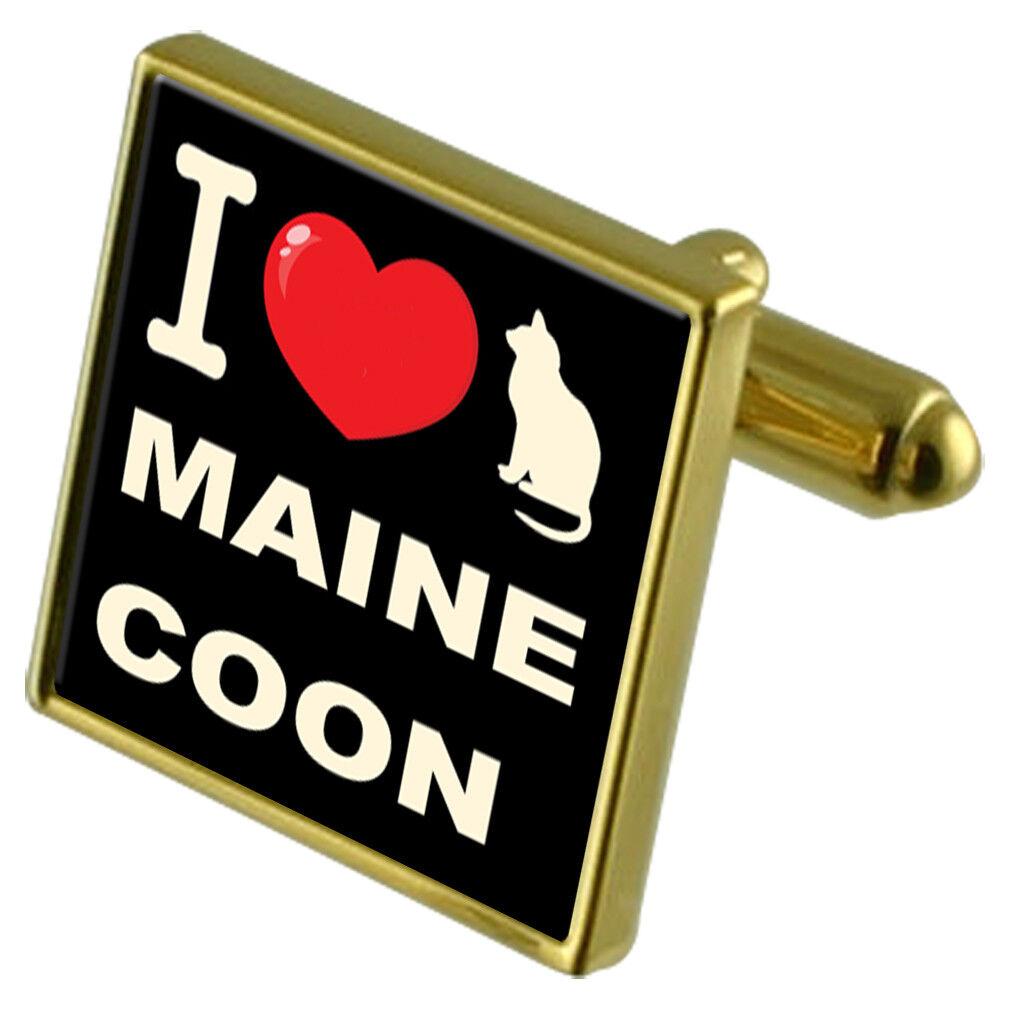 I Love My Cat Colore Colore Colore oro Gemelli Coon Del Maine 0e5e03
