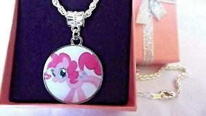 MY LITTLE PONY PINKY PIE PONY SILVER PLATE CHAIN 18 INCH GIFT BOX PARTY BIRTHDAY
