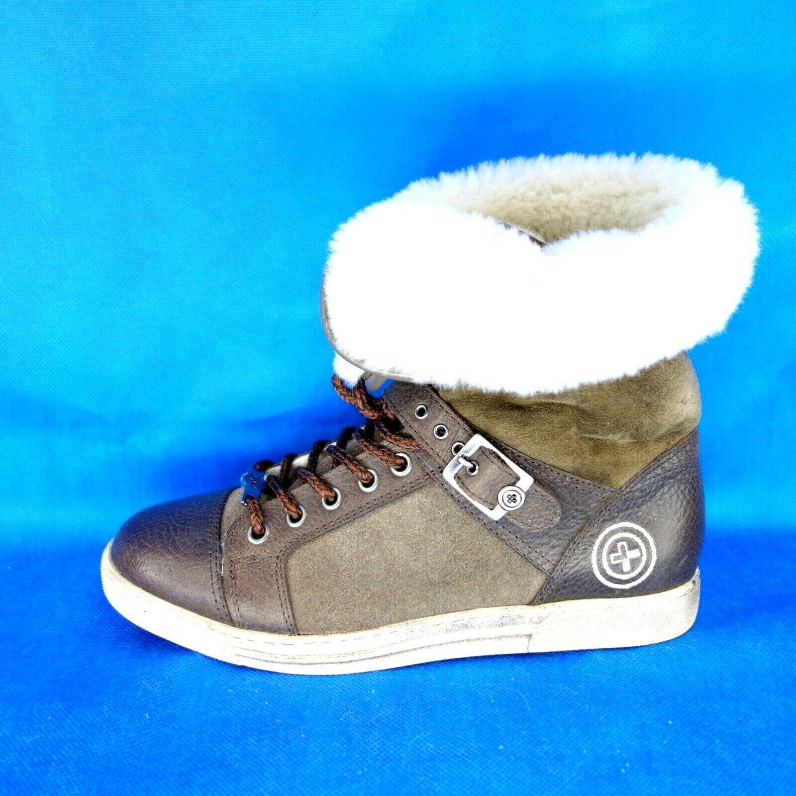 GINO B Damen Winter Schuhe Stiefel Turnschuhe KITZBUHEL 37 Braun Lammfell Np 325 Neu
