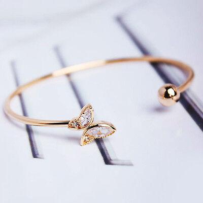 Filles Chic Simple Style Or Plaqué Papillon Bracelet d'ouverture Cadeaux
