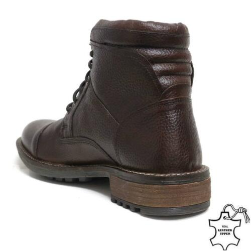 Taille Bottes Army Shoes Ankle Combat Formal Brown en hommes Smart pour New cuir Military 4R4Bw7