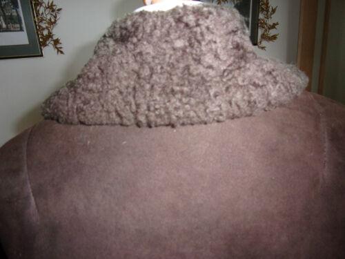 des Ladies 1960 peau en Woolea manteau années 3 d'époque Coffre mouton 38 4 marron de vqwACpAxZd