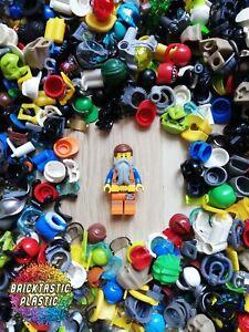 LEGO-Parts-X30-minifigure-wearables-hats-helmets-hair-more-Mix-bulk-pack
