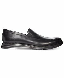179 Men S Cole Haan Original Grand Venetian Loafer 10 5 Lunar Black Zero Drop Ebay