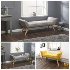 Remarkable Details About Milan Upholstered Ottoman Bench Seat In Mustard Silver Chenille Grey Hopsack Creativecarmelina Interior Chair Design Creativecarmelinacom