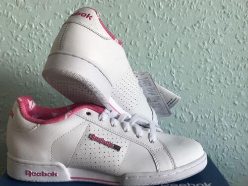 da da classiche 4 Uk classiche Scarpe Reebok donna Npc da 4 ginnastica Scarpe ginnastica donna da bianche rosa qC7wnOd