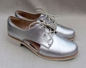 5 taglia Nuove scarpe pelle argentata Myth 37 Womens Hamble in Clarks 5 4 qvaqwTxH8