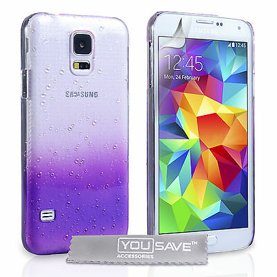 Yousave Accessories For The Samsung Galaxy S5 Stylish Rain Drop Hard Case Cover