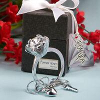 80 Diamond Engagement Ring Key Chain Favors Wedding Favors Bridal Shower Favor