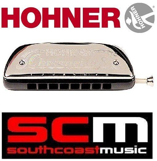 Nuevo acordeón Hohner Chrometta 8 250 32 clave de C Armónica azuls Folk Harp