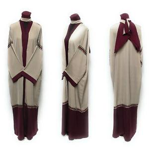 Taille-62-Femme-Bout-Ouvert-Abaya-dress-Saoudien-Abaya-Japonais-Neda