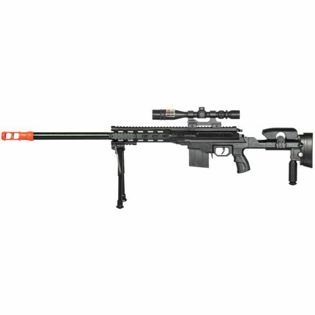 Returned Uk Arms P2668 Spring Powered Airsoft Bb Sniper Rifle Gun Black Scope For Sale Online Ebay