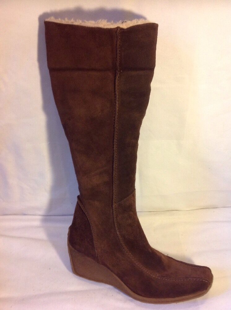 Dgoldthy Perkins Brown Knee High Suede Boots Size 38