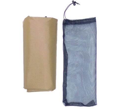 "5col Ultralight Tarp Coyote RipStop Nylon Backpacking Rain Fly Shelter 4/'6/"" x7/'"