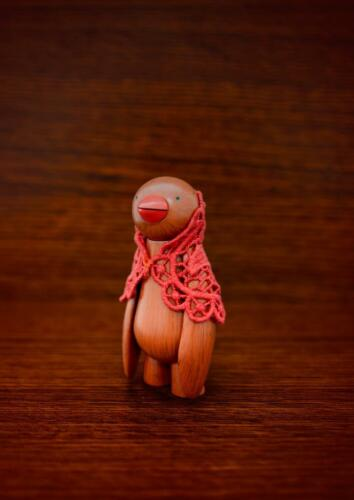 THE MULLED JI JA BIRD RED SCARF A MR CLEMENT DESIGNER ART TOY FIGURE