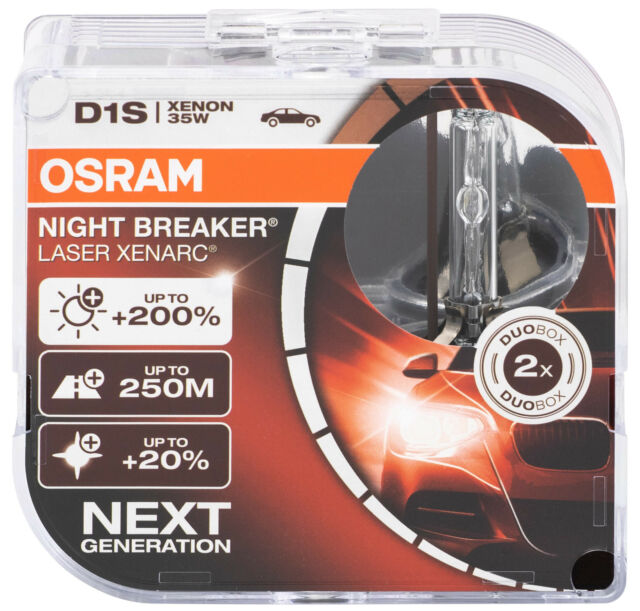 2x d1s xenón Bombilla de faro OSRAM Xenarc lámparas NIGHT BREAKER láser
