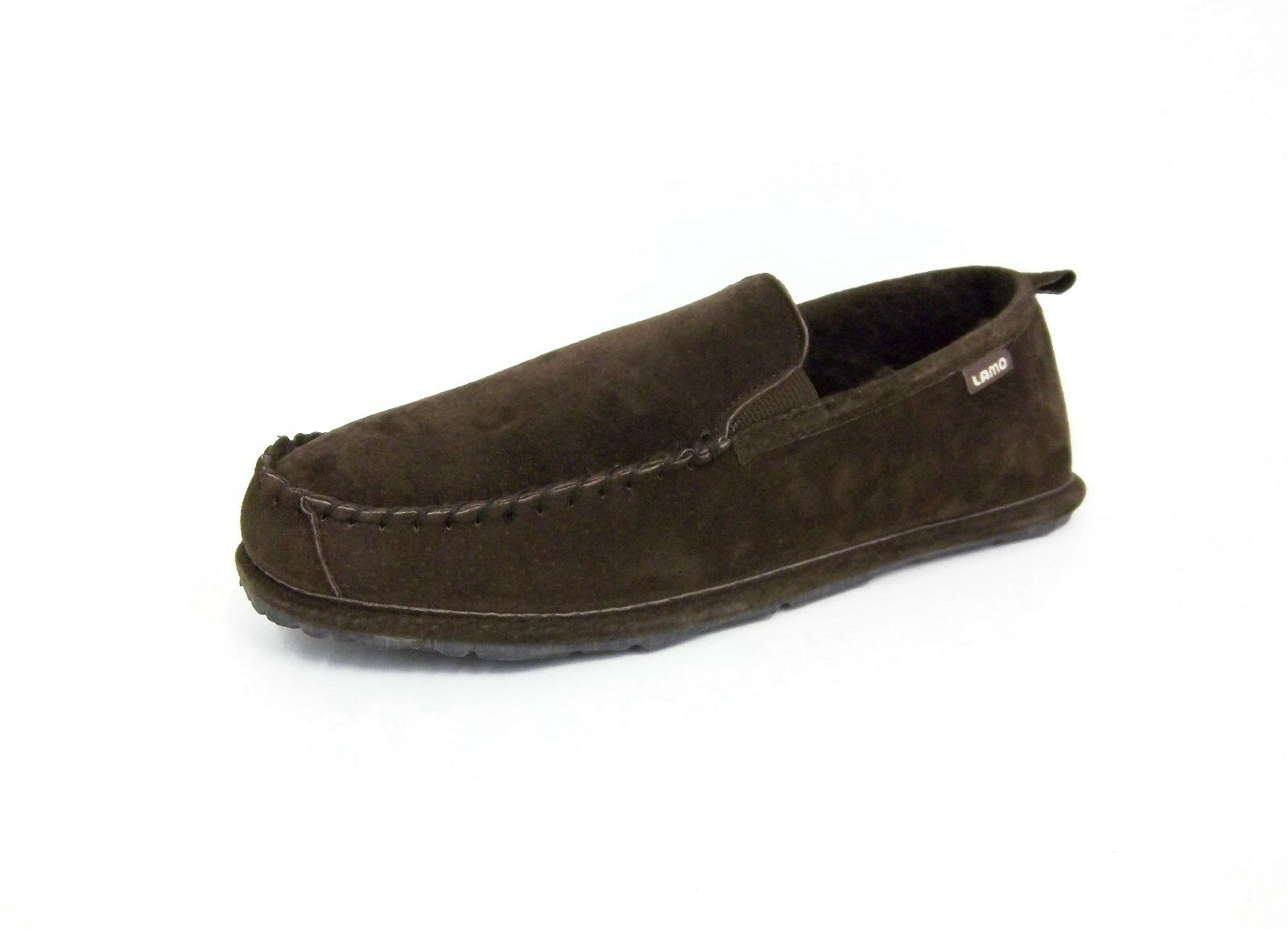 Lamo Mens EM1246 Newport Slip On Slipper,Chocolate