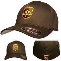 Ups Flexfit Hat Cap Brown S/m L/xl Xxl United Parcel Service 6277 Flexfit