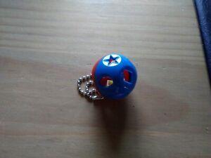 Tupperware Schlüsselanhänger Miniatur Kombi Ball blau //rot