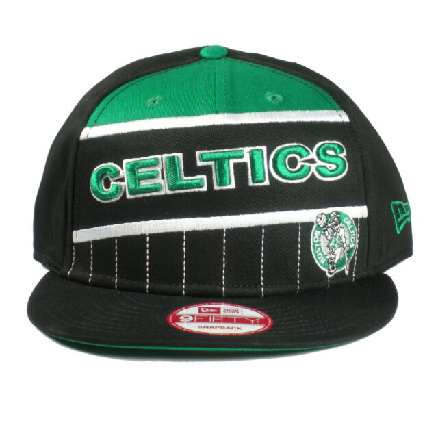 2bce2dbe Boston Celtics New Era 9Fifty Mens Cotton Twill Black Snapback Hat Cap