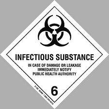 "4"" x 4"" INFECTIOUS SUBSTANCE Decal Biohazard Sticker Warning Label Auto DOT OSHA"