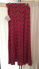 LuLaRoe Maxi Skirt, 3XL, Hot Pink with Black Japanese Umbrella pattern NWT
