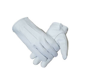 Honor Guard - Tuxedo - Parade White Leather Dress Gloves