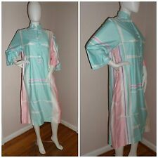 Vintage Catherine Ogust for Penthouse Gallery Tunic Dress Combed Cotton Pastel S