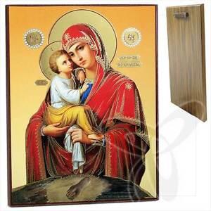 Ikone GM Würdig ist Holz 21x18 Достойно Есть Богородица ikona икона Ikony Antyki i Sztuka