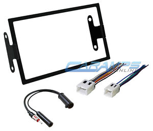 s l300 car stereo radio double din complete installation dash trim kit w car stereo wire harness at gsmportal.co