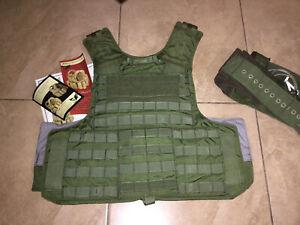 body armor bulletproof vest plate carrier lvl IIIA armor+stab medium