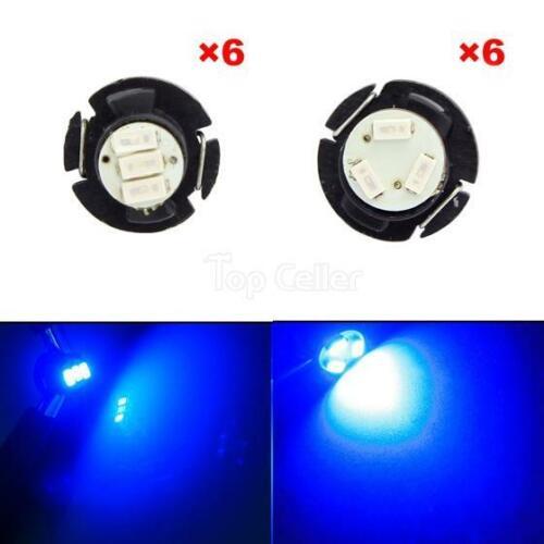 12pcs x T4 /&T5 Blue Neo Wedge LED Bulb HVAC Heater Climate Lights Bulb