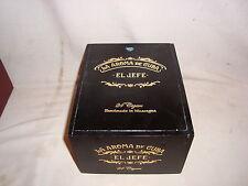 """LA AROMA DE CUBA """"EL JEFE"""" SLIDE TOP  WOOD CIGAR BOX"""