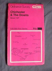 Ordnance-Survey-Landranger-Map-Sheet-197-Chicheter-amp-The-Downs-1-50-000-1974