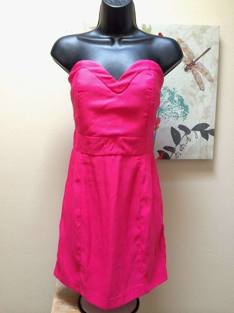 Designer sexy  Audrey 3 plus 1 hot Rosa mini strapless dress damen Sz S