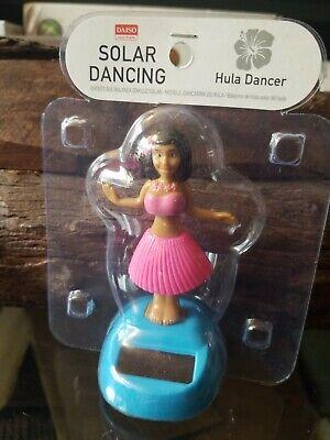 Pink Solar Powered Dashboard Hula Girl